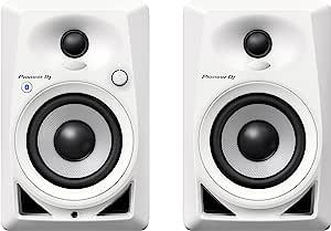 Pioneer DJ Studio Monitor, White (DM40BTW)