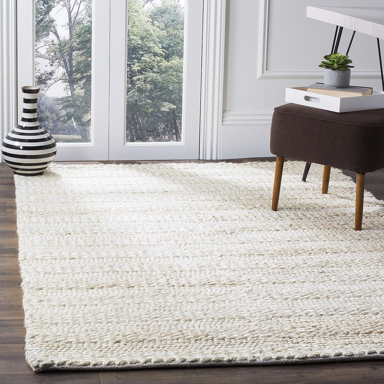 Safavieh Natural Fiber Collection Nf212d Handmade Braided Woven Jute Area Rug 5 X 8 Bleach Furniture Decor