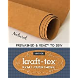 "kraft-tex Roll Natural Prewashed & Ready to Sew: Kraft Paper Fabric, 18.5"" x 28.5"" Roll (kraft-tex Vintage)"
