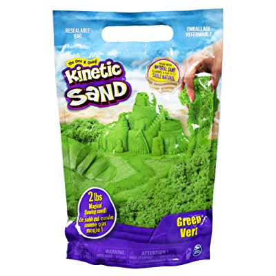 Kinetic Sand The Original Moldable Sensory Play Sand, Green, 2 Pounds: Toys & Games