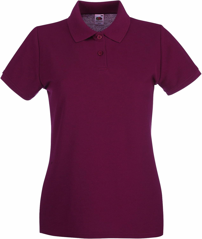 Lady-Fit Premium Poloshirt XXL / 18, Burgundy 63-030-0