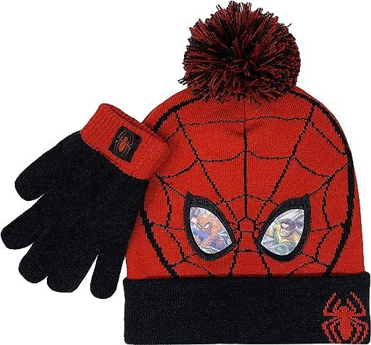 8 year and up Marvel Studio SPIDERMAN HAT TOBOGGAN SKI MASK RED BLACK BOY L XL