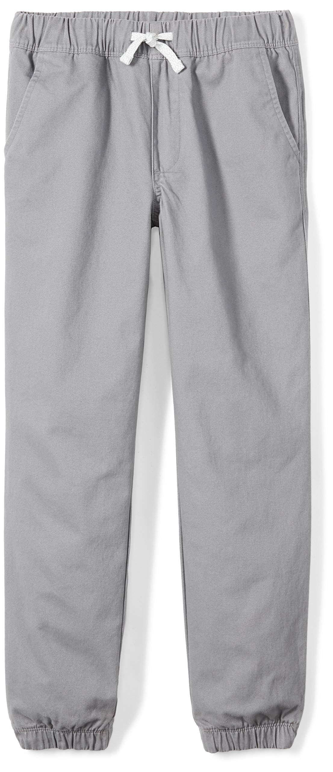 Spotted Zebra Little Boys' Woven Jogger Pants, Grey, Small (6-7)