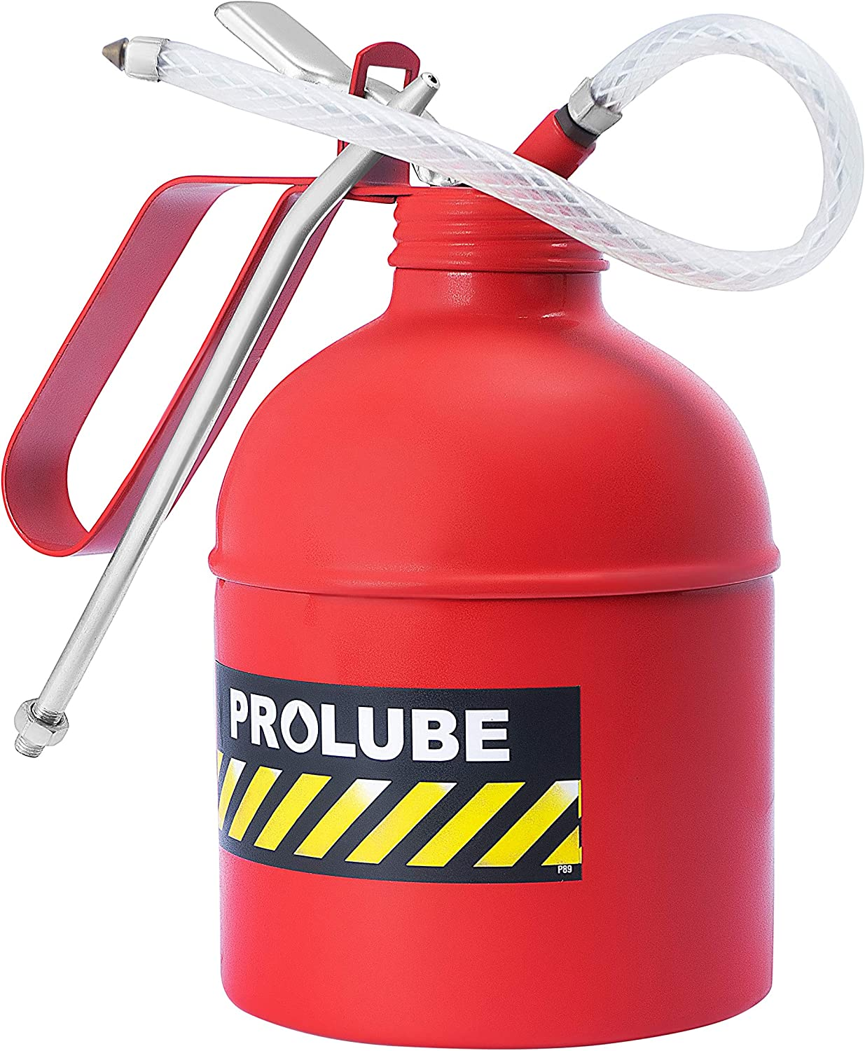 41430 PROLUBE 6-Ounce Dome Shape Capacity 6 oz Red Color Heavy Duty Pistol Type Oiler 200ml Rigid /& Flexible Spout Steel Pump