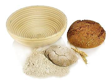 Peddigrohr Rund G/ärkorb G/ärk/örbe Brotteig Korb G/ärk/örbchen aus Rattan /Ø25cm H/öhe 9,5cm,f/ür 1500g bis 2500g Teig