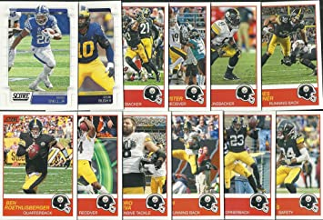 2019 Panini Score Football Pittsburgh Steelers Team Set 12 Cards W Drafted Rookies