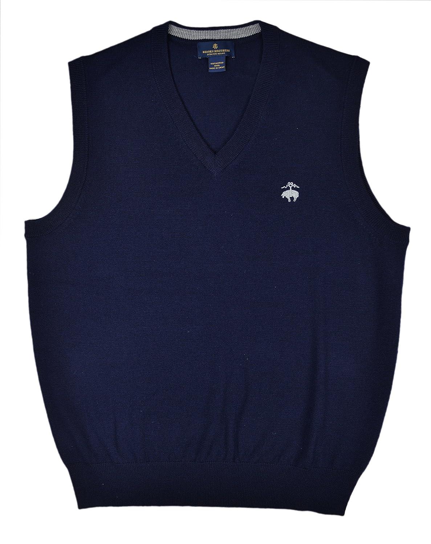 85%OFF Brooks Brothers Men's Extra Fine Merino Wool V-Neck Sweater ...