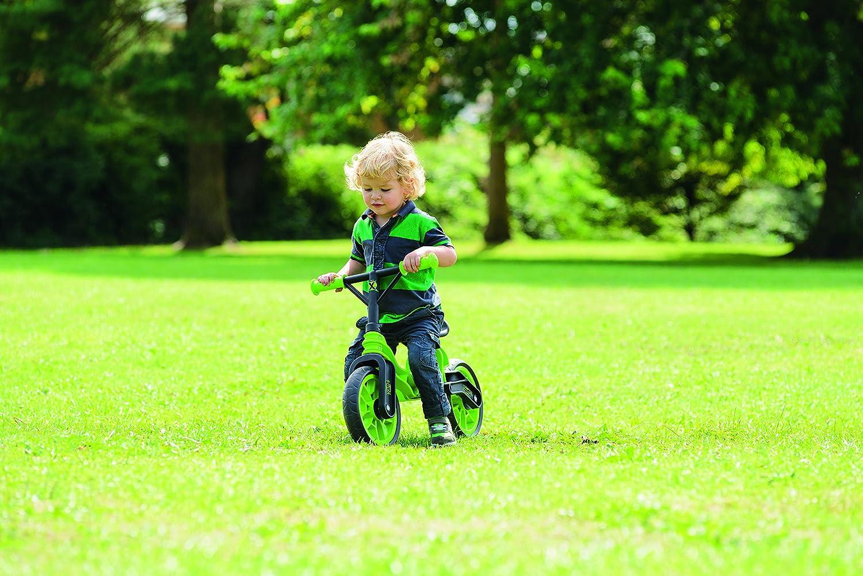 70251f3dade Xootz Folding Balance Bike (Green)  Amazon.co.uk  Toys   Games