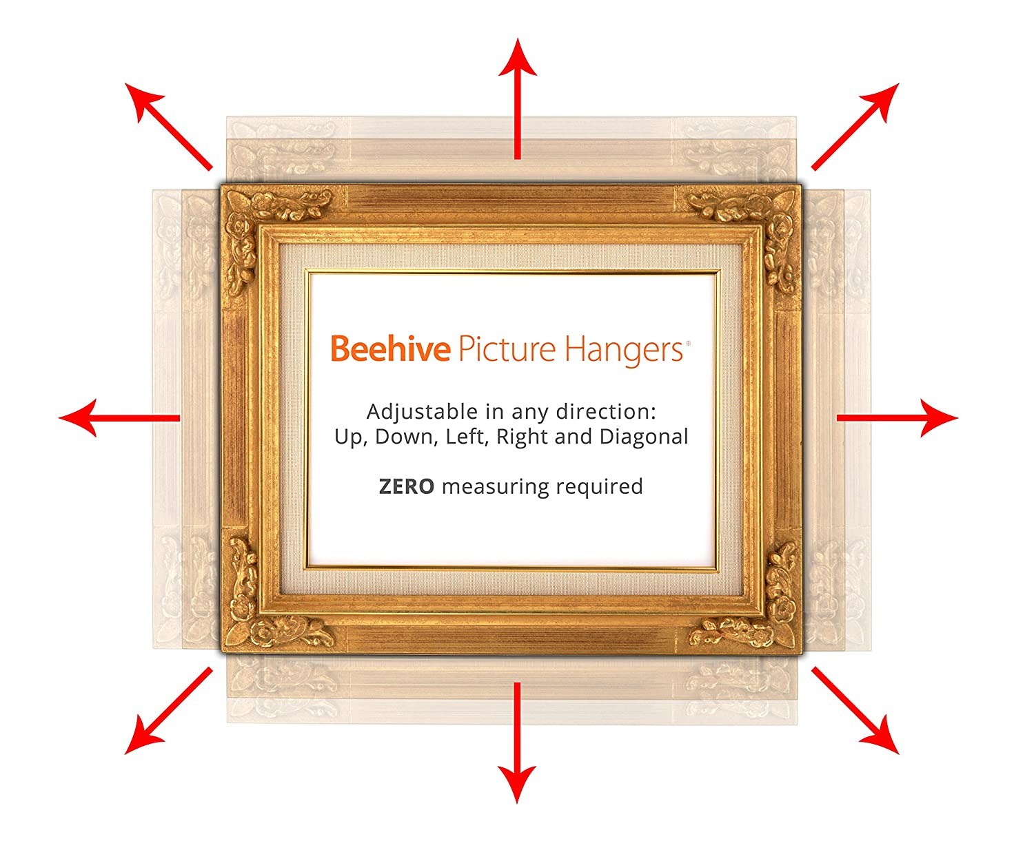 Beehive picture hangers revolutionary picture frame hanging kit beehive picture hangers revolutionary picture frame hanging kit and framed picture hanger 12 pack max size amazon jeuxipadfo Gallery