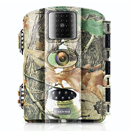 Vizzlema Trail Camera-12MP Wildlife Hunting amera 65ft Infrare Game Camera Motion Activated 65ft Long
