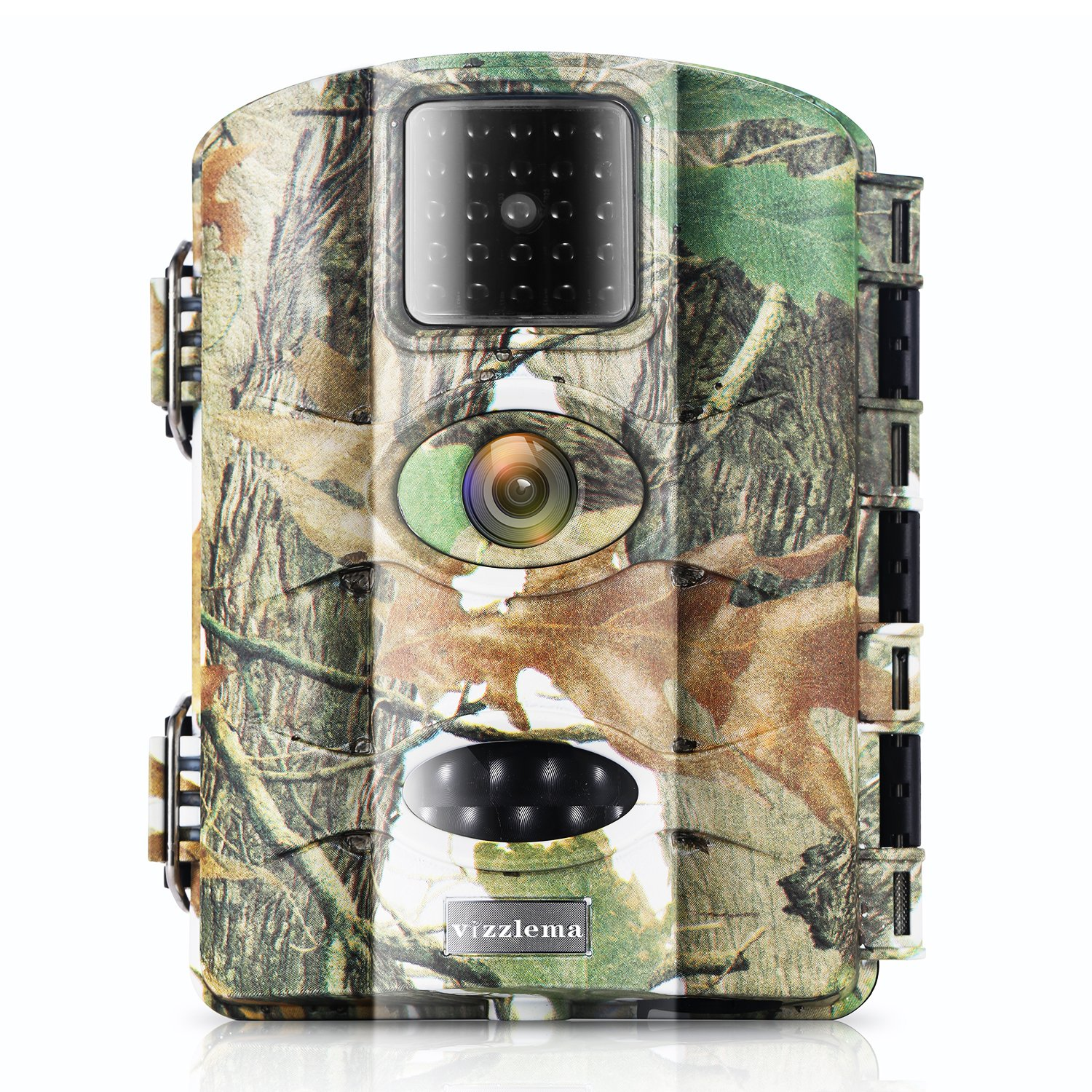 Vizzlema Trail Camera-12MP Wildlife Hunting amera 65ft Infrare Game Camera Motion Activated 65ft Long Range No Glow Infrared Night Version with 2.4in LCD Screen Waterproof IP65