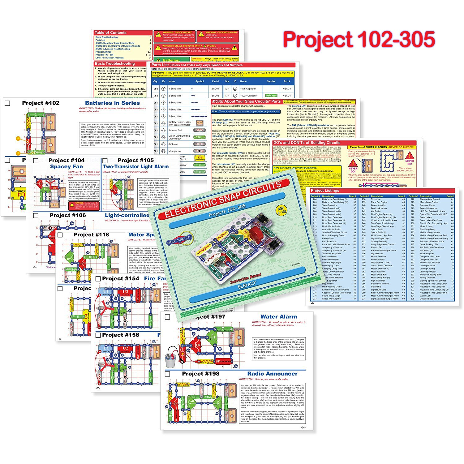 Snap Circuits Extreme Sc 750 Electronics Exploration Kit Circuit Vs Parallel For Kids Using The Above As An Over Stem Projects 4 Color Project Manual 80 Modules Unlimited Fun