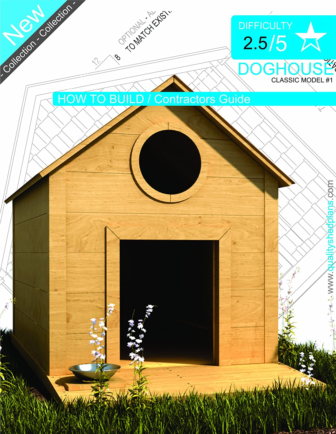 DOG HOUSE PLANS - Step By Step CAD Drawings - How To Build a
