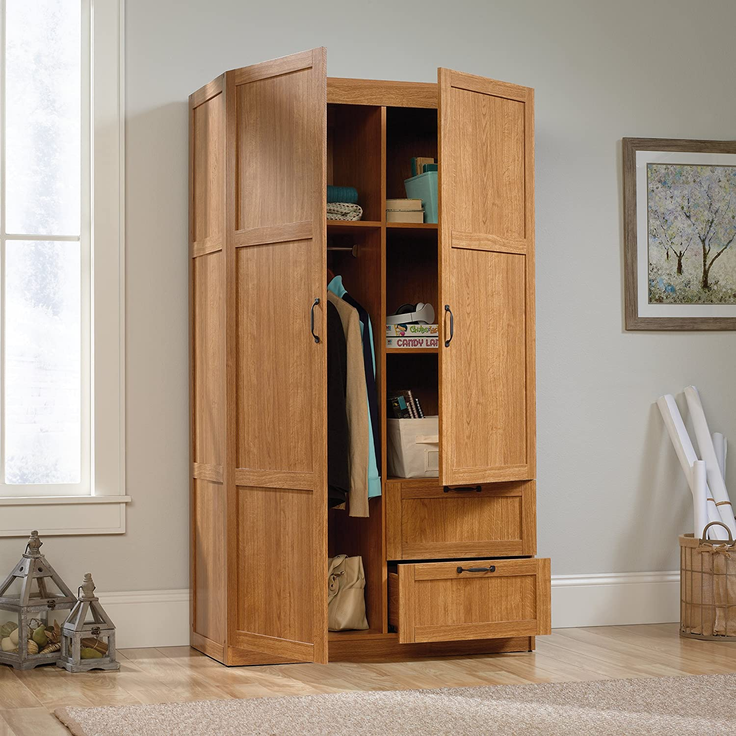 wardrobe sauder images awesome cabinet elegant gallery homeplus of modern storage