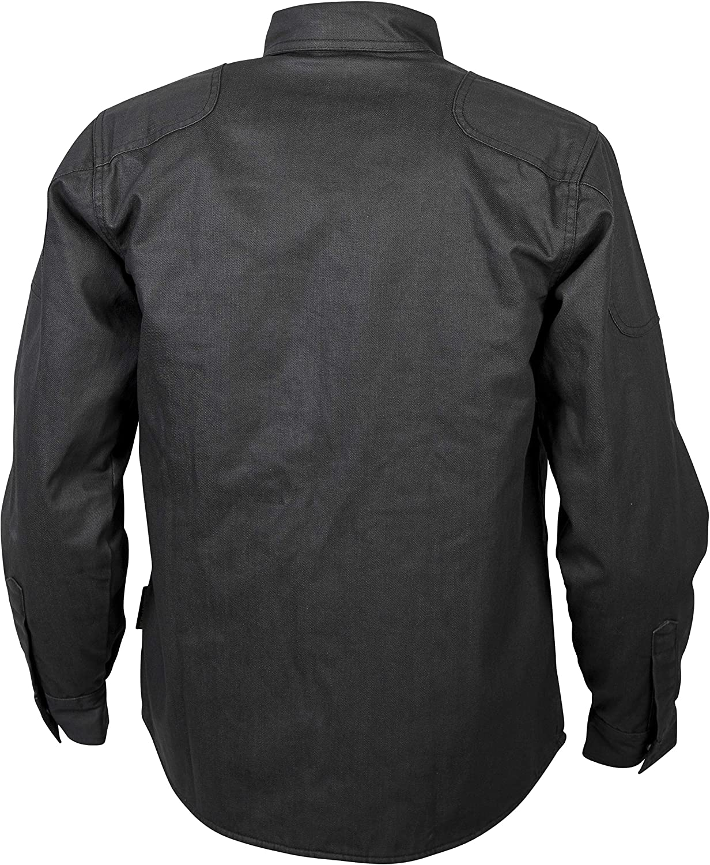 Black, Medium Scorpion Unisex-Adult Covert Waxed Riding Shirt