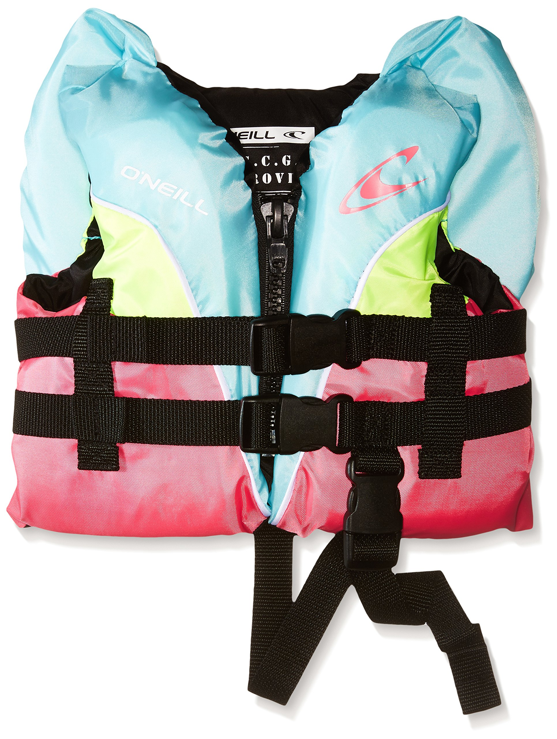 O'Neill Infant Superlite USCG Life Vest, Turquoise/Berry/Lime/White, 0-30 lbs