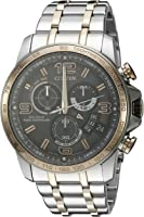 Citizen Eco-Drive Men's BY0106-55H Chrono-Time A-T Analog Display Two Tone Watch