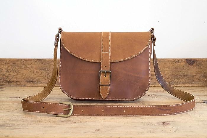 deca35363de57 Amazon.com  MESSENGER BAG    Brown leather bag    Satchel Leather handbag     Medium-sized leather tote bag    Leather Tote    coach leather bag purse   ...