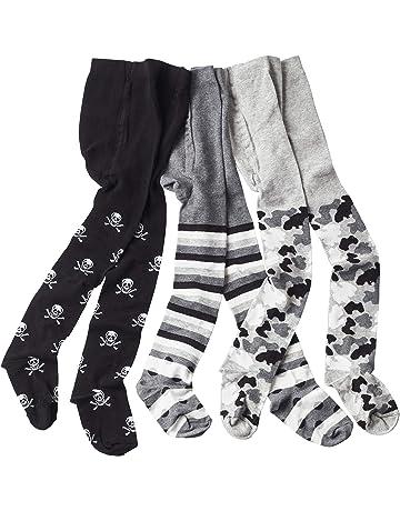 LaLoona Baby Krabbelstrumpfhose mit ABS Sohle elastische Kinder Strumpfhose mit Anti Rutsch Noppen Blau Sterne