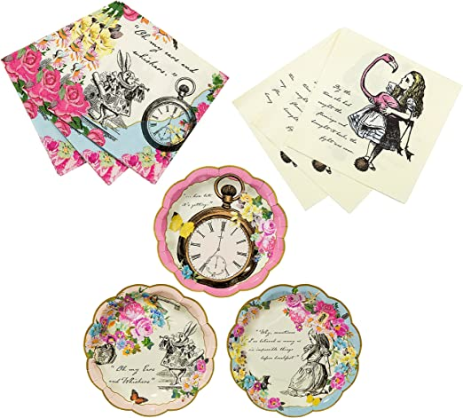 20 Truly Alice Flamingo Wonderland Napkins Decorations Tableware Party