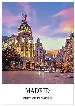 Panorama® Póster Ciudad de Madrid con Mensaje 21 x 30 cm ...