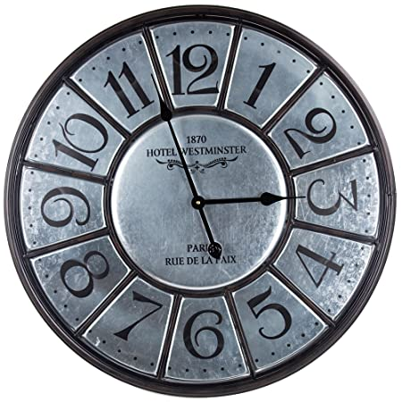 American Art Decor Hotel Westminster Paris Large Clock Battery Operated