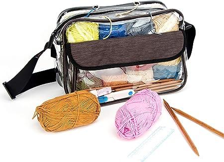 Bolsa De Almacenamiento De Hilo Para Tejer Bolsa De Ganchillo Transparente Para Organizar Hilos Agujas De Tejer Y Ganchos De Ganchillo L Arte Manualidades Y Costura