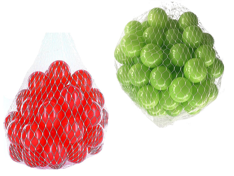 10000 Bälle für Bällebad gemischt mix mit hellgrün und rot