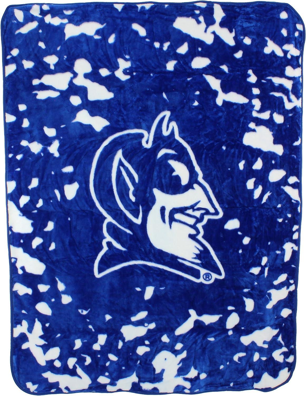 College Covers Duke Blue Devils 63 x 86 Soft Raschel Plush Throw Blanket