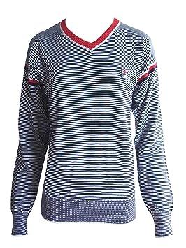Fila White Line – Jersey para hombre con cuello en V de la Fila Vintage de 34a3c57c3cf5