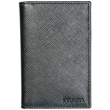 41e41a5b86182 Prada Kreditkartenetui Echtleder Herren Kreditkarten Geldbörse Schwarz