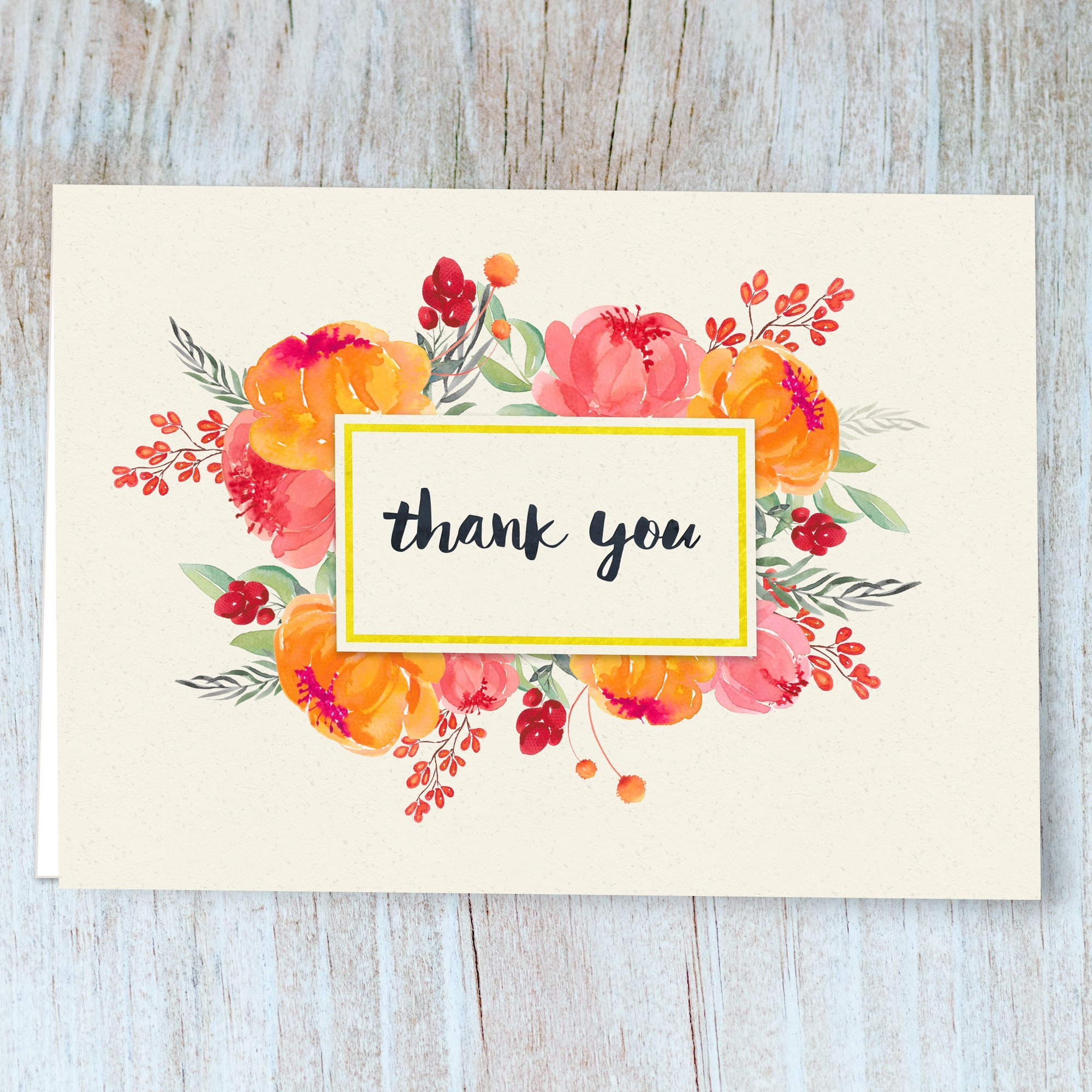 Thank You Cards 40 Floral Thank You Notes For Your Wedding Baby