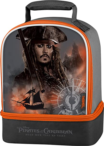 Amazon.com  Thermos Dual Lunch Kit, Pirates Of The Caribbean 5 Movie ... 951935c6f8