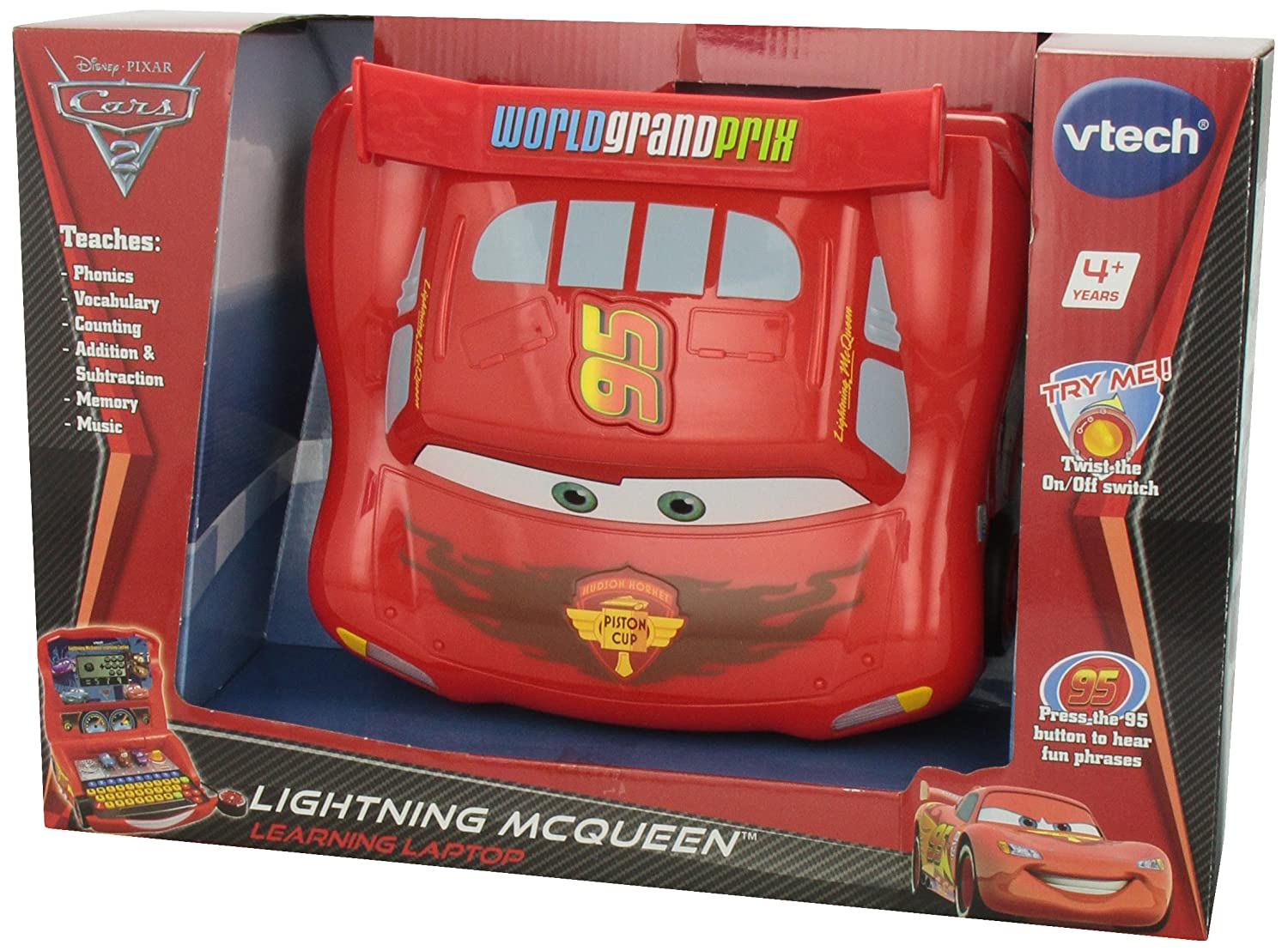 Amazon.com: VTech   Disneyu0027s Cars   Lightning McQueen Learning Laptop: Toys  U0026 Games