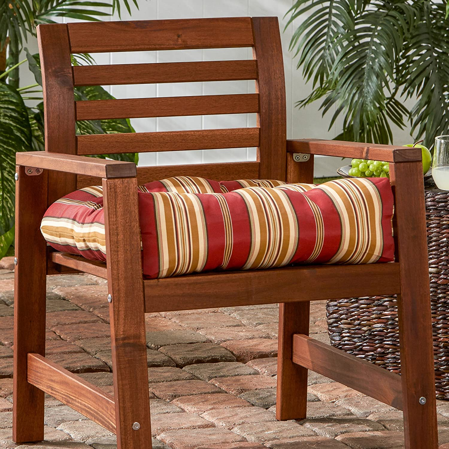 amazon com greendale home fashions 20 inch indoor outdoor chair