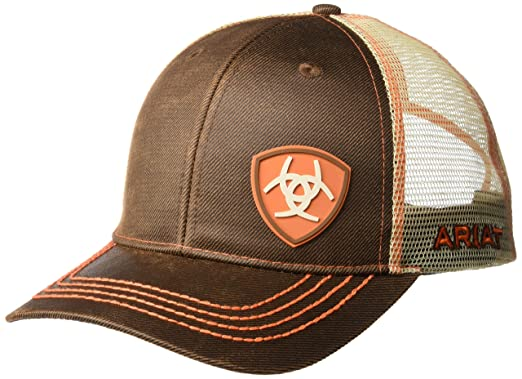 5509dc91ca34db ARIAT Men's Rob Cap Oilskin BRN Size One Size at Amazon Men's ...