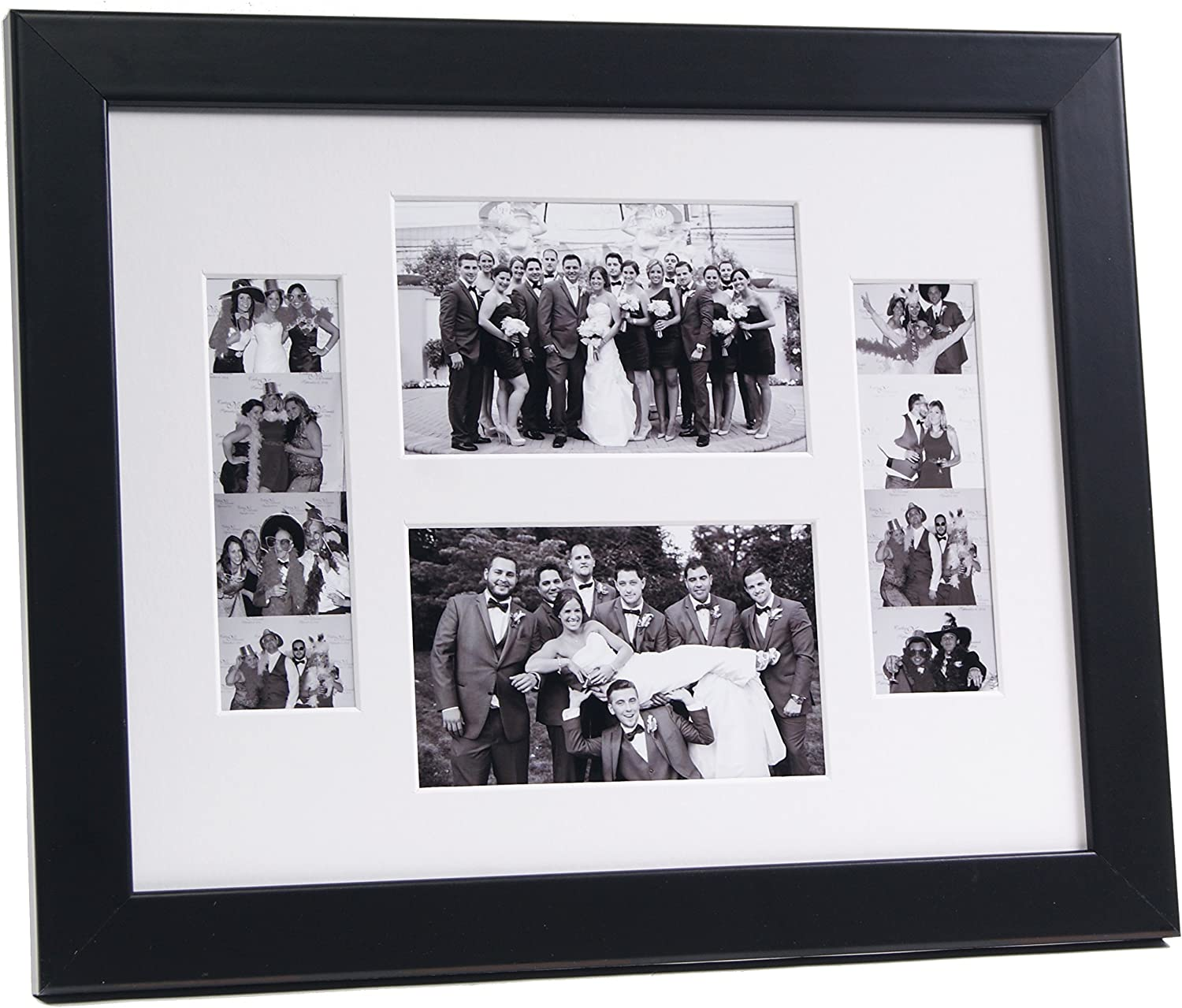 Black Photo Booth Frame w// Stand Holds 1-2x6 Strip with Mat