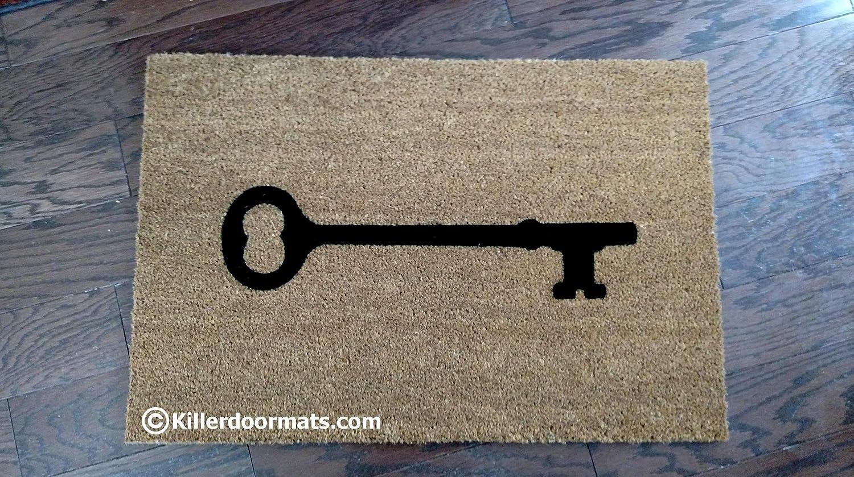 It's Just a Simple Key Custom Handpainted Welcome Doormat by Killer Doormats, Size Small - Welcome Mat - Doormat