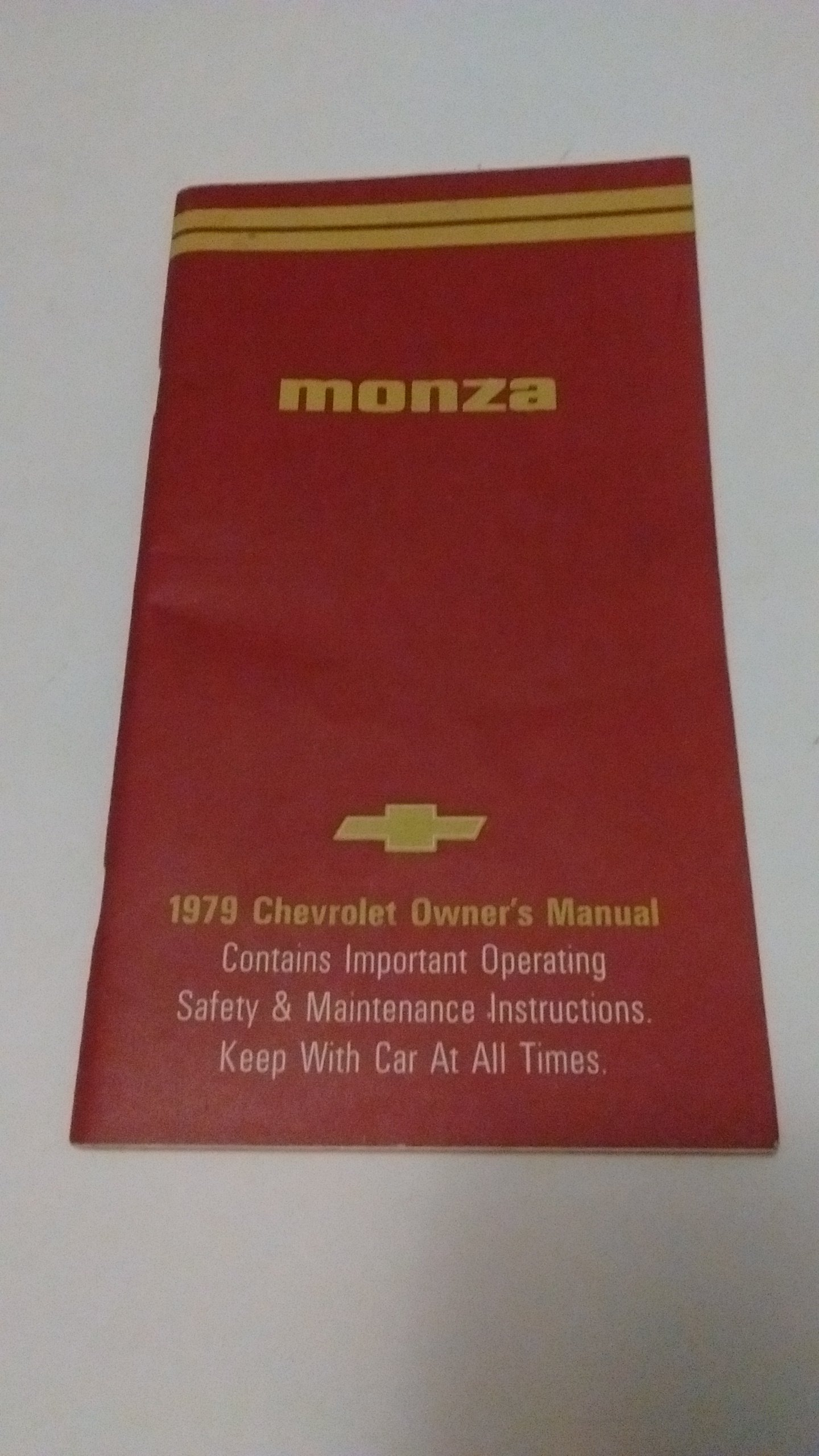 1979 CHEVROLET MONZA OWNERS MANUAL: CHEVY: 0744309742581: Amazon.com: Books