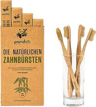 pandoo Cepillos de Dientes en Bambú | Opción de Cepillo y Cerdas ...