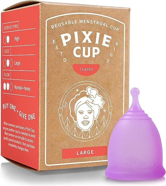 Pixie Menstrual Cup Nº 1 para más cómodo copa menstrual y Mejor Remoción Stem Todas las demás marcas cada taza de adquirirse uno se le da a una mujer ...