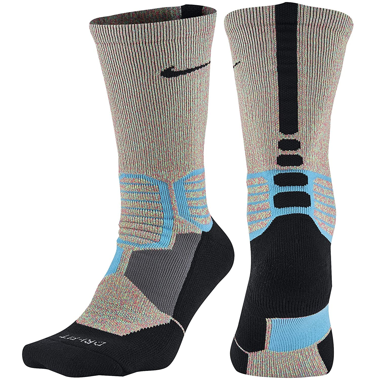 Nike Hyperelite Crossover Omega Blue/Black Basketball Socks