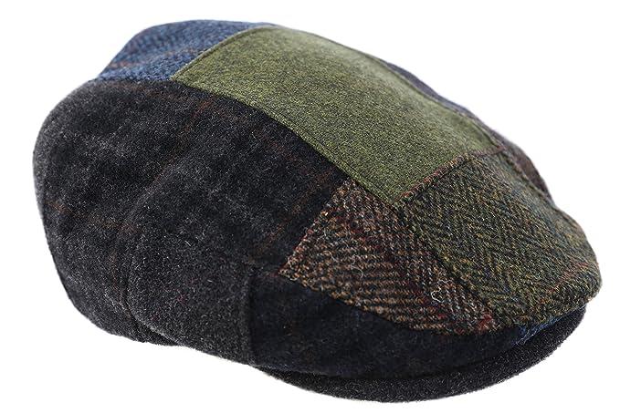 Mucros Men s Flat Cap Patchwork 100% Wool Earthtones Made in Ireland Large 09d691aecc42