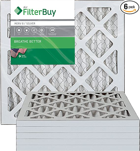 Gold Pack of 2 Filters 10x10x1 FilterBuy 10x10x1 MERV 11 Pleated AC Furnace Air Filter,