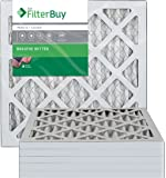 FilterBuy 12x15x1 MERV 8 Pleated AC Furnace Air Filter, (Pack of 6 Filters), 12x15x1 – Silver