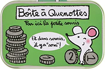 /Mouse and Coins Derri/ère la Porte Loulou/ with text in French /Tooth Fairy Box/
