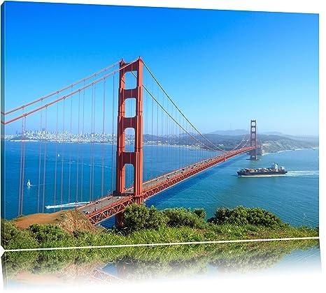 Gate v3 Golden Bridge 1p Bild Bilder auf Leinwand Wandbild Poster