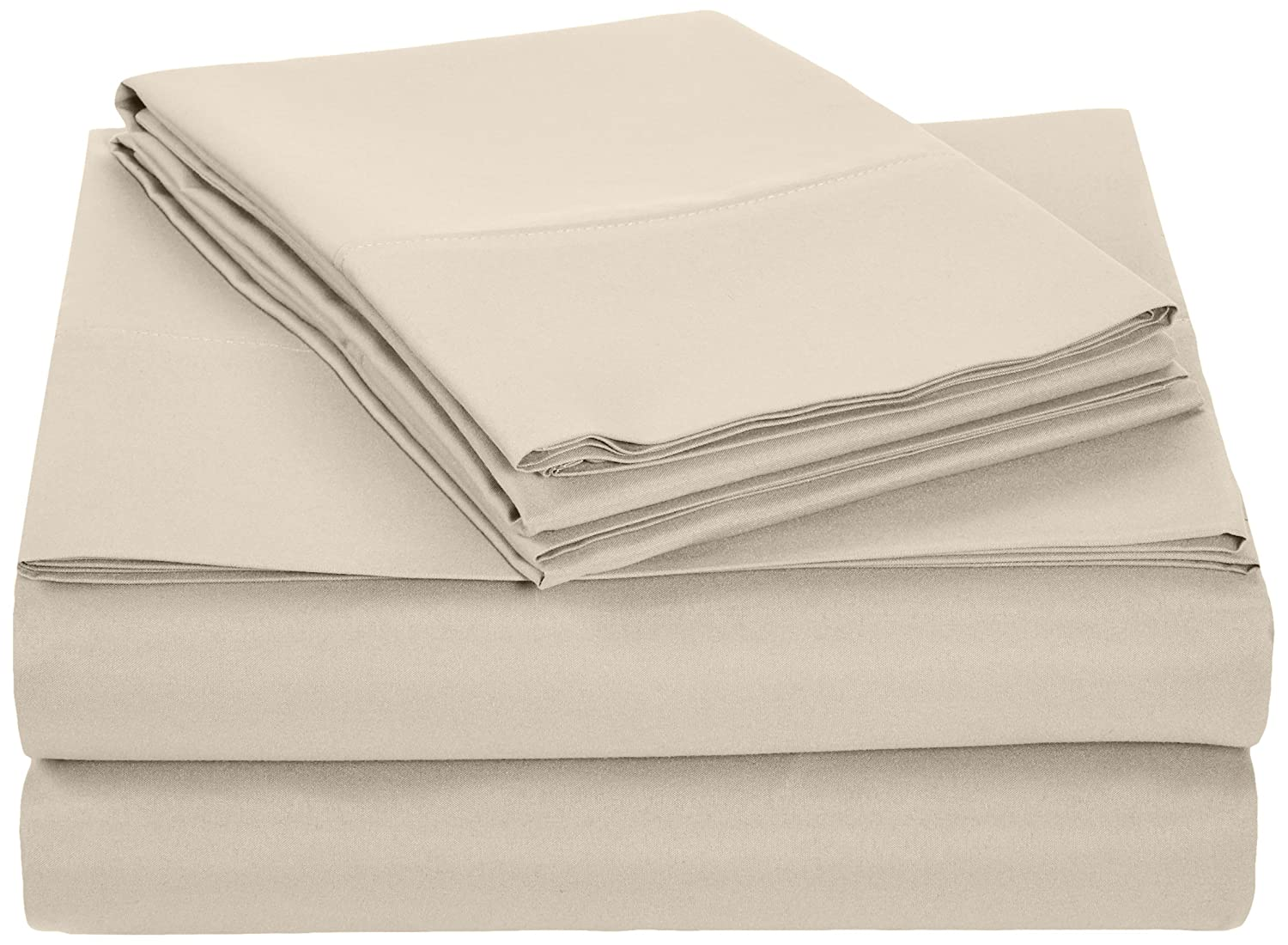 AmazonBasics Microfiber Sheet Set - Full, Beige