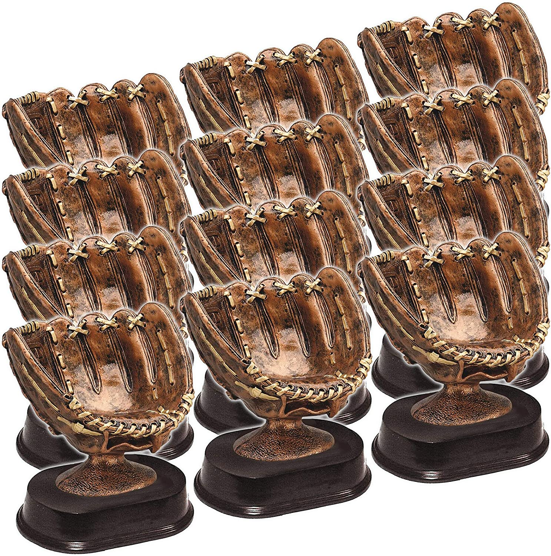 On Top Awards Game Ball Holder Award 5 Tall Baseball Glove Ball Holder Trophy Bronze