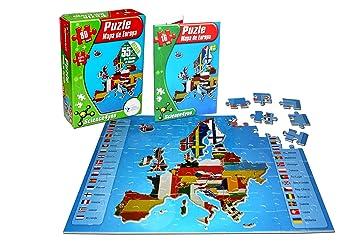 Juegos Puzle esJuguetes De Mapa Y EuropaAmazon dsrxthCQ